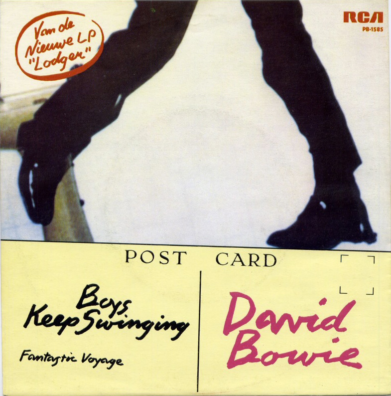 "Boys Keep Swinging by David Bowie 1979 The Netherlands 7"" single cover"