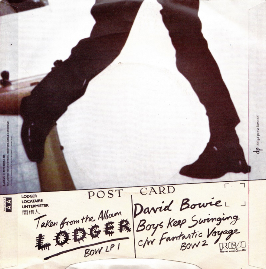 "Boys Keep Swinging by David Bowie 1979 UK 7"" single back cover"