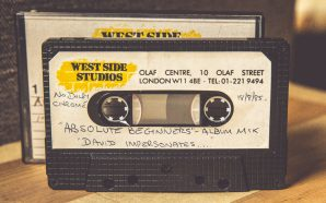 David Bowie impersonates cassette tape from West Side studios