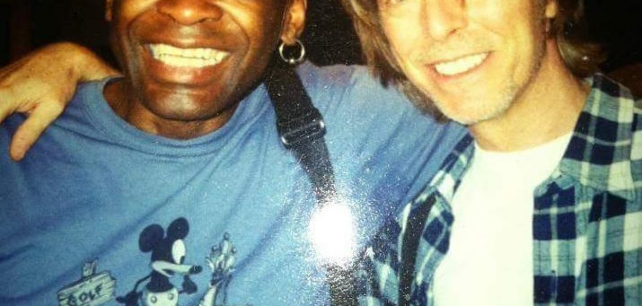 Drummer Dennis Davis and David Bowie together in New York in 2000
