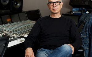 Tony Visconti relaxes in the studio