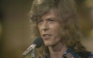 David Bowie performs Space Oddity at the 1970 Ivor Novello Awards at London's Talk Of The Town