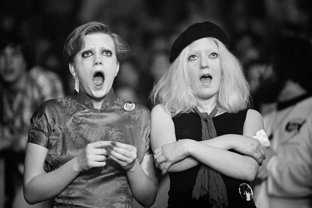 Two super fans react to Bowie on stage during the Isolar tour They attended nearly every show on the North American leg