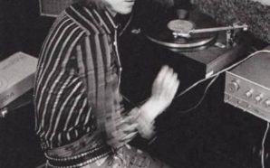 David Bowie listening to vinyl