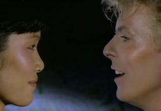 David Bowie serenades Geeling Ng in the China Girl video 1983