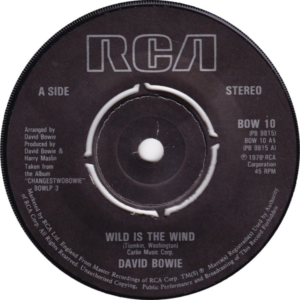 Wild Is The Wind by David Bowie, 1981 single A side label