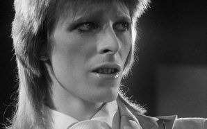 David Bowie at the Marquee club during the 1980 Floor Show, photographed by Terry O'Neill on 19 October 1973