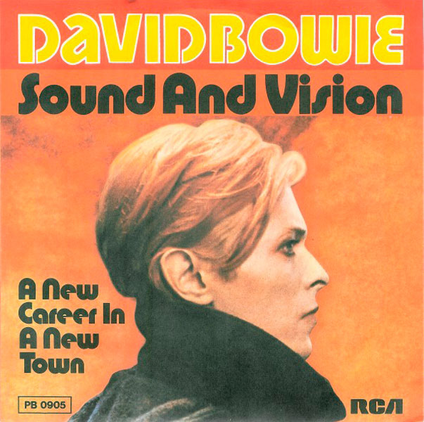 David Bowie - Sound and Vision - Single front cover