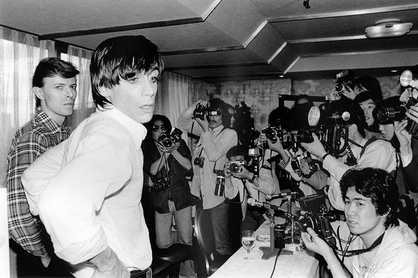 David Bowie & Iggy Pop photographed by Masayoshi Sukita: Press Conference