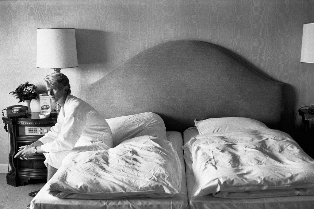 David Bowie photographed at the Kempinski Hotel, Berlin by Denis O'Regan in 1983 © Denis O'Regan