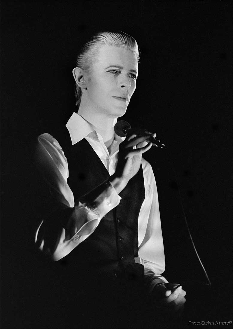 David Bowie during the 1976 Isolar tour photographed by Stefan Almers © Stefan Almers