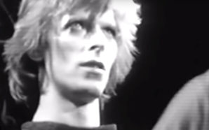David Bowie performs The Jean Genie at the Tower Ballroom on the Diamond Dogs tour in July 1974