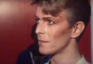 David Bowie interviewed by Janet Street-Porter backstage at Earls Court London in 1978